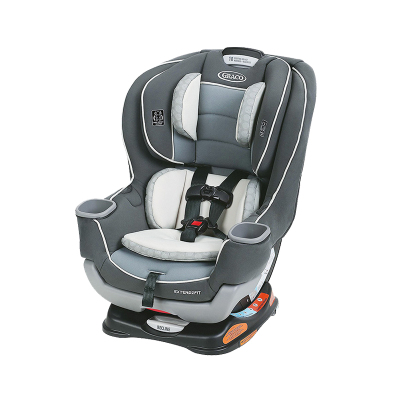 【美国断货王】graco/葛莱 儿童汽车安全座椅 0-7岁Extend2Fit 灰色双向安装坐躺调节式 LATCH接口