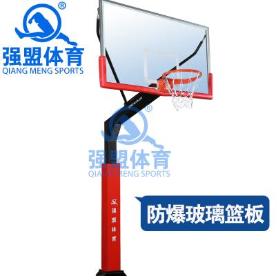 强盟 篮球架 成人固定移动升降可调节篮球架 标准家用户外比赛儿童高度篮球架(1支)