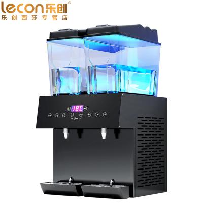 lecon/樂創DN325雙溫飲料機商用冷熱全自動雙缸三缸餐廳擺攤自助果汁機觸碰定量飲料機