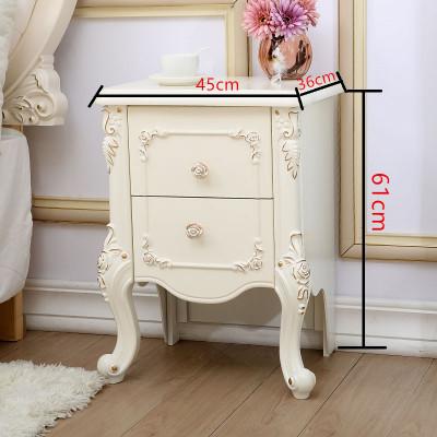 床头柜 窄款床边小柜子新款家具30cm35cm40cm45宽小户型欧式简约迷你床头 C款高脚(45cm)金色象牙白 整装