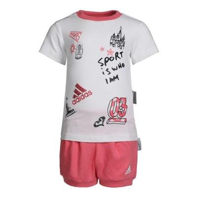 阿迪達斯兒童(ADIDAS KIDS)女嬰童舒適透氣針織運動套裝CX3480
