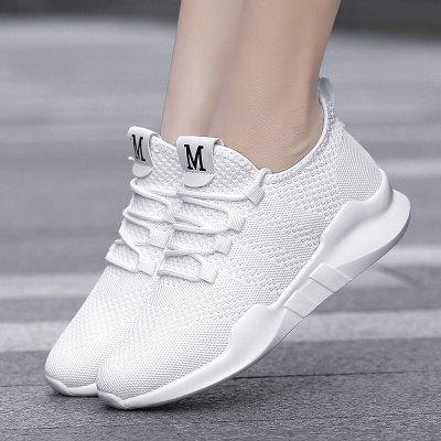 因樂思(YINLESI)白色跳舞鞋軟底鬼步舞鞋厚底增高女運動鞋跑步鞋健身鞋廣場舞蹈鞋