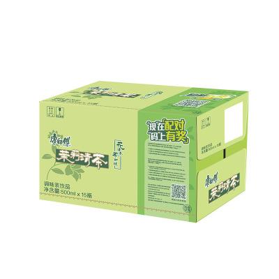 康師傅 茉莉清茶500ml*15瓶 整箱 茶飲料(新老包裝交替發貨)