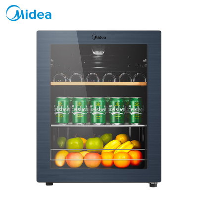 美的(Midea)JC-66GM家用恒温红酒柜冰吧冷藏雪茄酒柜玻璃冰柜