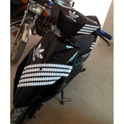 澳派鬼火一代外殼純色拉花 1代車殼全套RSZ gy6電車摩托車改裝鯊魚殼 深紫色18黑AD