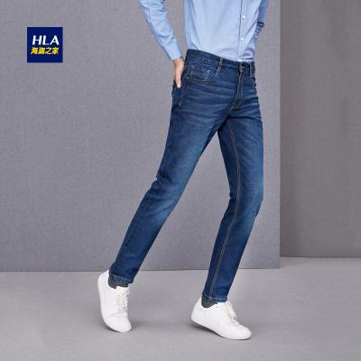 HLA海澜之家时尚都市直筒牛仔裤舒适牛仔裤男装HKNAD3E109A