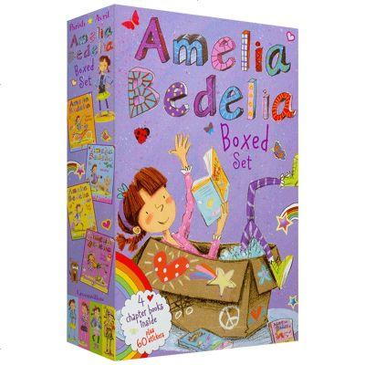 正版 糊涂女傭1-4冊盒裝 英文原版繪本 Amelia Bedelia Chapter Book Box Set 艾