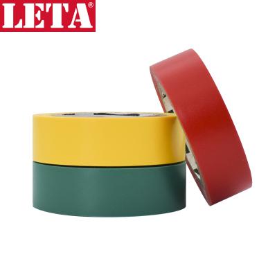 【蘇寧自營】勒塔(LETA)工具 彩色絕緣膠帶 電工標記膠帶10m*18mm(3卷裝) 耐磨防潮耐酸堿LT-PPE551