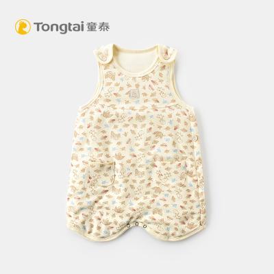 童泰秋冬嬰兒睡袋寶寶純棉床品用品男女寶寶無袖連體睡衣睡袋