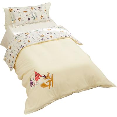 棉花堂針織被套嬰兒童床上用品純棉幼兒園寶寶小孩床品被罩單件冬3366