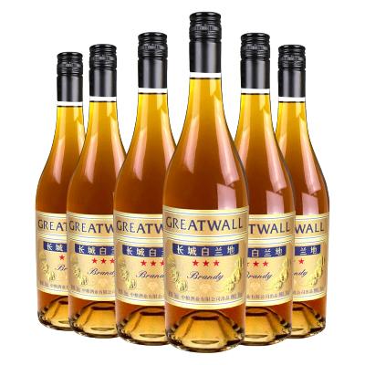 【官方旗舰店】长城三星白兰地700ml*6瓶 洋酒 蓬莱产区 中粮直营烈酒