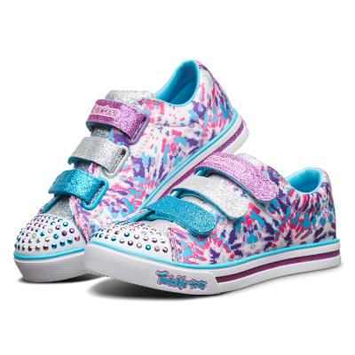 Skechers斯凱奇女童鞋夏季新款潮流印花運動休閑鞋10839L-WMLT