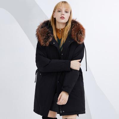 BOSIDENG брэндийн өвлийн эмэгтэй зузаан куртка B80141130 160/84A хар8056