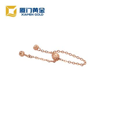 18K金链戒玫瑰金色(可调尺寸) 时尚饰品