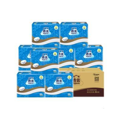 卫生纸平板厕纸家用整箱加厚400张实惠装8包厕所刀切纸方纸巾