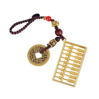 宏圖好運合金小算盤鑰匙扣創意鑰匙鏈掛飾品汽車鑰匙掛件男女士