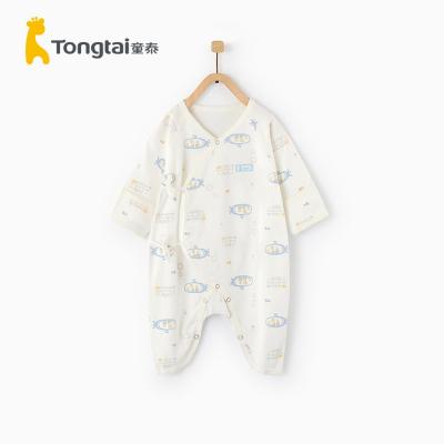 童泰2020年四季新款嬰兒衣服0-3月新生兒蝴蝶哈衣嬰兒純棉連體衣