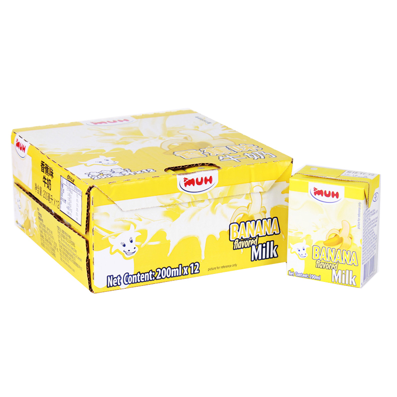 丹麦进口 MUH甘蒂牧场牧牌 香蕉味牛奶200ml*12盒 整箱 进口风味牛奶