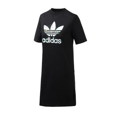 adidas阿迪达斯三叶草女装运动服LOGO款TEE DRESS休闲连衣裙FL0037
