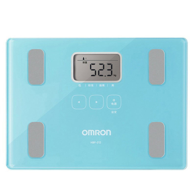 歐姆龍(OMRON)體脂肪秤 HBF-212-B 脂肪測量儀成人健康秤器械 智能健康體重秤體脂儀(藍色)