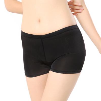 VEACOW【2條裝】夏季冰絲女安全褲蕾絲三分褲打底褲 無痕防走光安全褲