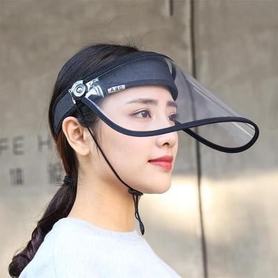 【蘇寧好貨】運動帽擋雨帽子遮雨帽男女透明面罩防風防水防雨防風帽子廚房防油煙面罩