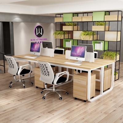 辦公桌U型職員屏風辦公家具古達電腦桌椅組合2-4-6人位簡約現代工作桌寫字桌