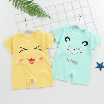 新生兒衣服嬰兒連體衣新款夏季短袖純棉嬰幼兒爬服哈衣