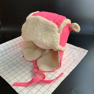热卖儿童女宝宝毛线护耳围巾围脖一体帽婴儿帽子秋冬可爱超萌冬季冬天