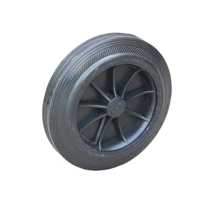 户外大号垃圾桶轮子100/120/240L升轮轴轱辘20cm通用轮子配件 普通款轮子+空心轴一套