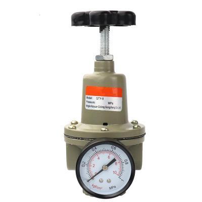 气动元件空气减压阀QTY-15/8/10/20/25 调压阀气源处理器带压力表 QTY-25(螺纹1寸)