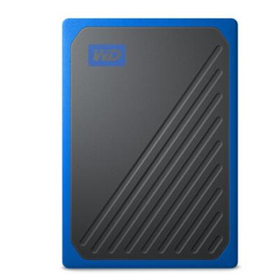 西部數據(WD)1TB USB3.0 移動硬盤 固態(PSSD)My Passport Go鈷藍色(堅固耐用 小巧便攜