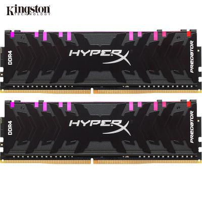 金士頓(Kingston)駭客神條 Predator系列 掠食者 DDR4 3200 16G(8Gx2)套裝 臺式機內存 RGB燈條