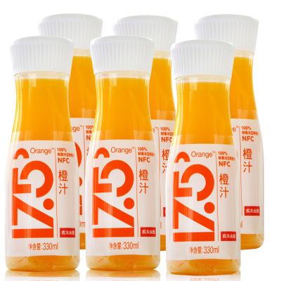 农夫山泉17.5°NFC鲜榨橙汁330ml*6瓶鲜果冷榨冰鲜果汁泡沫箱冰袋