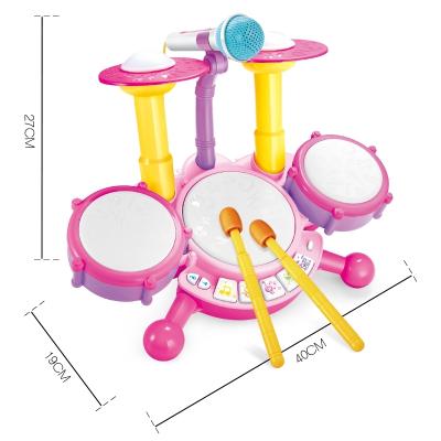 宝宝迷你架子鼓儿童初学者敲打爵士鼓乐器玩具1-3岁6女孩生日礼物