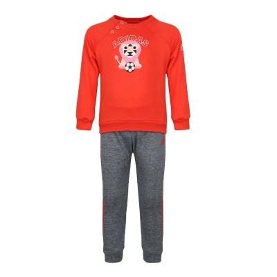阿迪達斯兒童(ADIDAS KIDS) 女嬰童套頭長袖套裝DM7039