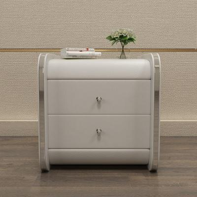 A家家具 床头柜简约现代皮艺床头柜卧室床头储物柜简约床边收纳柜其他DA0206