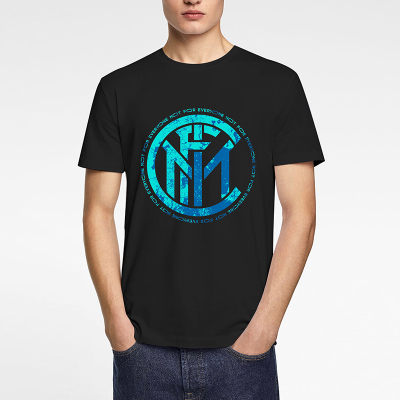 國際米蘭俱樂部Inter Milan官方2020夏季男新款T恤簡約時尚運動休閑短袖圓領套頭衫高檔棉質印花設計感百搭上衣