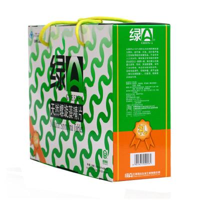 綠A 天嘫螺旋藻精片 0.5g*12片*25袋*2筒禮盒裝