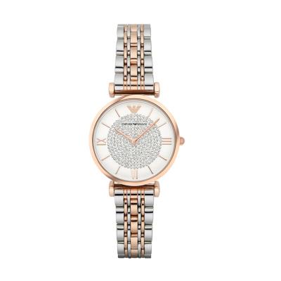 海外直郵歐美品牌原裝進口包稅阿瑪尼,EMPORIO.ARMANI手表時尚女表鋼帶女士石英表 女AR1926