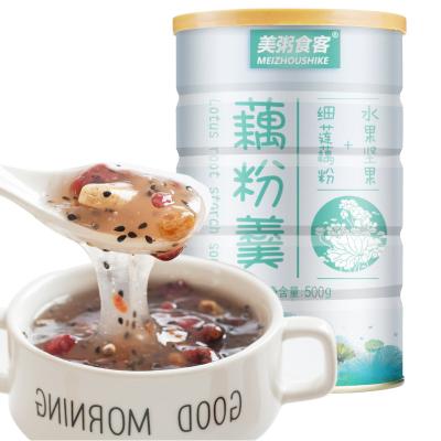 美粥食客 堅果水果藕粉羹500g 代餐堅果蓮子粉早餐沖飲營養早餐方便速食