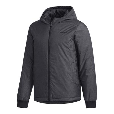 阿迪達斯(adidas)男士冬季休閑運動保暖棉衣 雙面穿足球外套DM2199