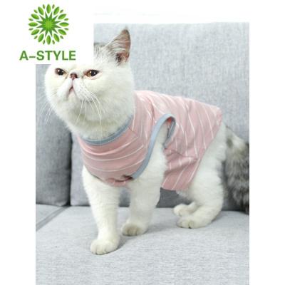 貓咪衣服春秋裝薄款小型犬 寵物貓貓衣服防毛 藍貓英短寵物用品