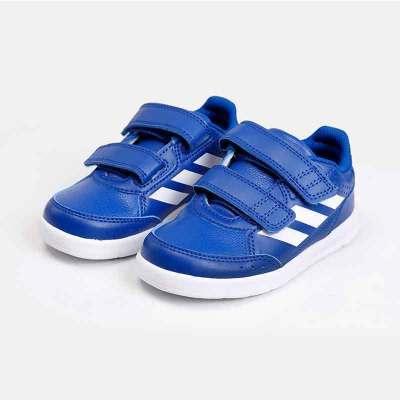 阿迪達斯兒童運動休閑鞋 嬰幼童魔術貼兒童運動寶寶訓練鞋B42105 男嬰童0-3歲