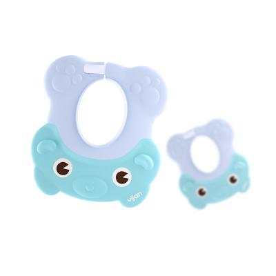易简(yijian)宝宝洗头帽 防水护耳小孩洗澡帽可调节婴儿洗发帽儿童浴帽 绿色