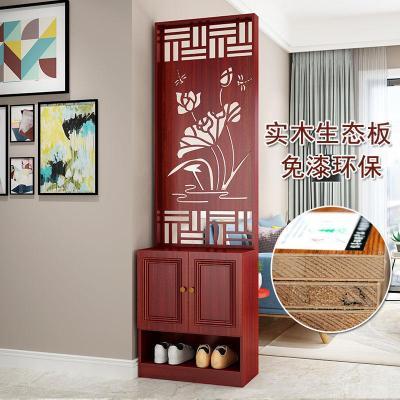 苏宁好店入户屏风客厅镂空隔断柜装饰实木现代简约家用墙进玄关柜s6001新款
