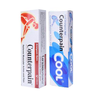泰国施贵宝Counterpain酸痛膏 扭伤腰酸肌肉按摩膏温热型+清爽型