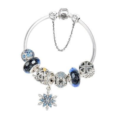 PANDORA潘多拉 手链925银蛇骨链星空林心如同款 礼品套装送礼送女友送爱人情人节礼物