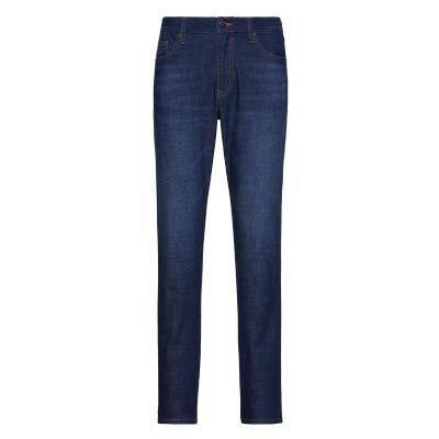 碼尚定制MatchU冰氧吧彈力牛仔褲男 購買后會收到短信鏈接在線量體 2020春季新款可定制牛仔褲男 中藍色