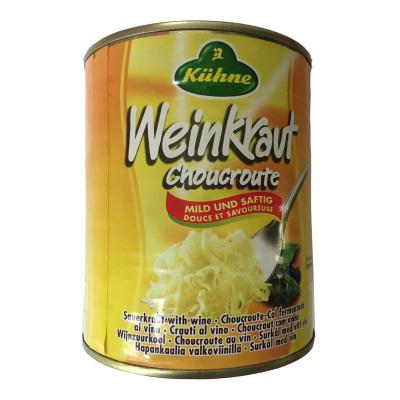 德國冠利進口酸椰菜酸菜腌制泡菜西餐德式搭配香腸配菜調味小菜 酸菜810g/罐